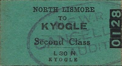 Railway tickets a trip from North Lismore to Kyogle by the old NSWGR
