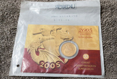2005 Gold Full Sovereign Still Sealed