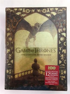 NEW Game of Thrones: The Complete Fifth Season (DVD, 2016, 5-Disc Set)