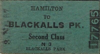 Railway tickets a trip from Hamilton to Blackalls Park by the old NSWGR in 1957