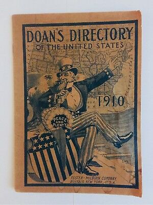 1910 Uncle Sam Doans Directory Medicinal Advertising Booklet