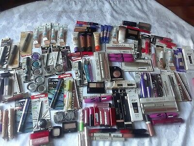 Wholesale Lot of 125 Pc  Salvage/Damage Makeup -Assorted Brand names Read DES!