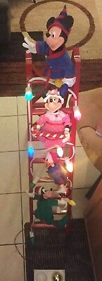 Disney Mr Christmas Mickey's Tree Trimmers Animated 1994 Rare collectible