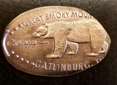 Copper Elongated Pressed Penny Great Smoky Mountains Gatlinburg Tennessee Ripley