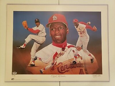 Bob Gibson SIGNED St. Louis Cardinals LITHOGRAPH / Paluso ARTIST PROOF # 8/40