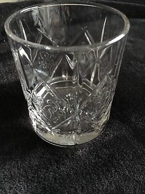 Collectible Dewar's Scotch Celtic Knot Double Old Fashioned Weighted Glass EUC