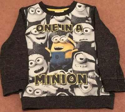 Minions Design Jumper (4-5 Years) From Smoke And Pet Free Home