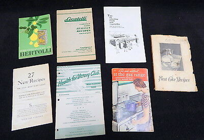 Vintage Cook Book Recipe Booklet Lot WWII Era Better Homes and Gardens