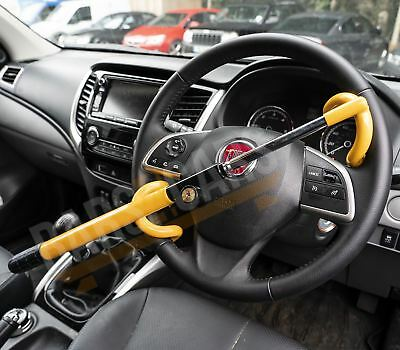 fits Mini Car Double Claw Anti Theft Strong High Security Steering Wheel Lock