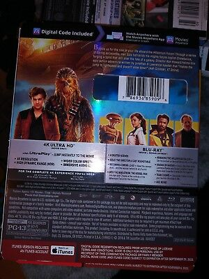 Solo: A Star Wars Story (4k Ultra HD/Blu ray/Digital HD)