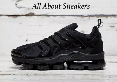 """Nike Air VaporMax Plus """"Triple Black/"""" Men's Trainers Limited Stock All Sizes"""