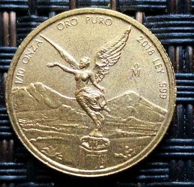 2018 1/10 oz Gold Libertad Coin