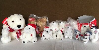Lot Of 14 Coke Coca Cola Plush Polar Bears With Tags Some Sealed