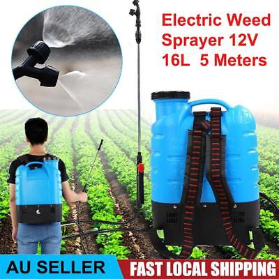 16L Electric Backpack Weed Sprayer 12V Rechargeable Pump Watering Farm Tool AU