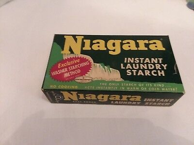 Vintage NIAGARA INSTANT STARCH Laundry STARCH DETERGENT SOAP Decor Prop