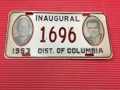 1953 Eisenhower / Nixon Inaugural License Plate
