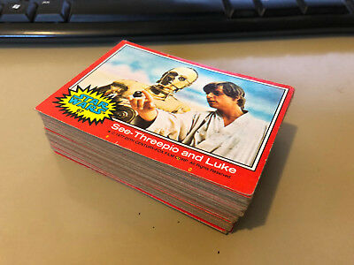 Star Wars - Series 2 (RED) - Complete Trading Card Set (66) 1977 - VG/EX