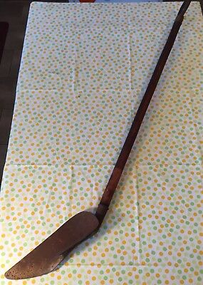 Antique Sidewalk Edger Yard Shovel With Wood Handle