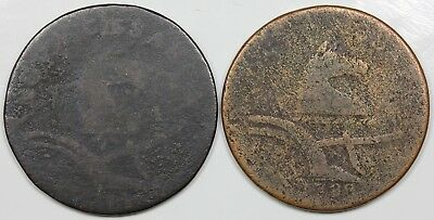 Pair of New Jersey Coppers, 1787 & 1788, lower grades
