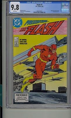 Flash #1 Cgc 9.8 White Pages 1987 Series