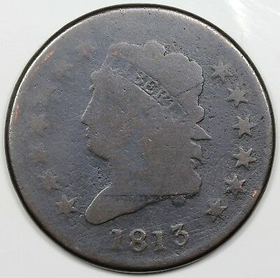 1813 Classic Head Large Cent, G