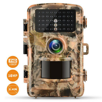 Campark Trail Camera 14MP HD 1080P Wildlife Scouting Hunting IR LED Night Vision