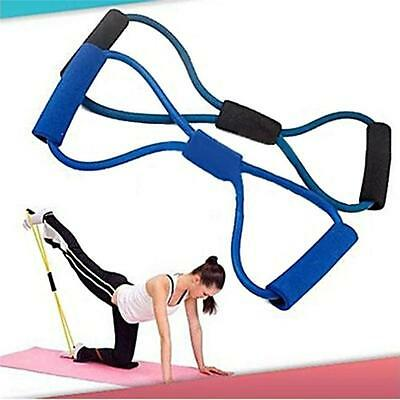 8 Type Resistance Training Bands Stretch Rope Tube Exercise For Workout Yoga WL