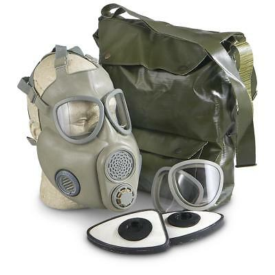 Czech Military Gas Mask M10 with Filters and Carry Bag, New never issued