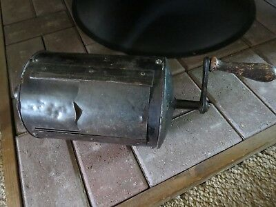 Antique Cast Iron and Metal Coffee Roaster Late 1800's Initialed CR.I on Inside