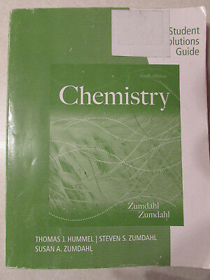 Chemistry Student Solutions Guide, 9th ed, Zumdahl