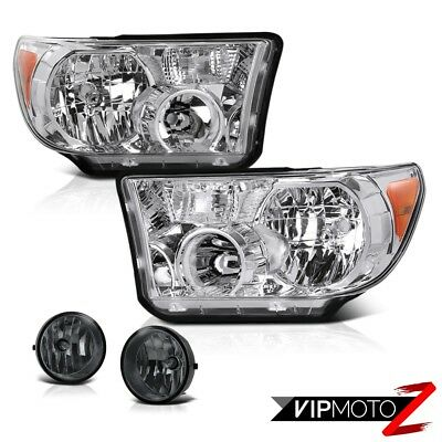 Clear L+R Headlight Lamp+L+R Fog Light Lamp+Wiring+Switch Toyota 07-13 Tundra