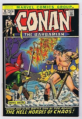 Conan The Barbarian #15 VF/NM OWP complete 1972 1st Print Marvel Comics