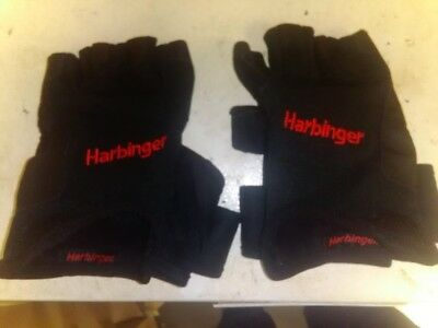 Harbinger 140 Ventilated Pro Wristwrap Weight Lifting Gloves - XL Black Used