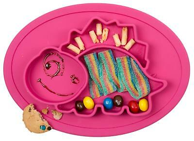 Qshare Toddler Plate Baby Plate for Babies Toddlers and Kids Portable BPA-Free