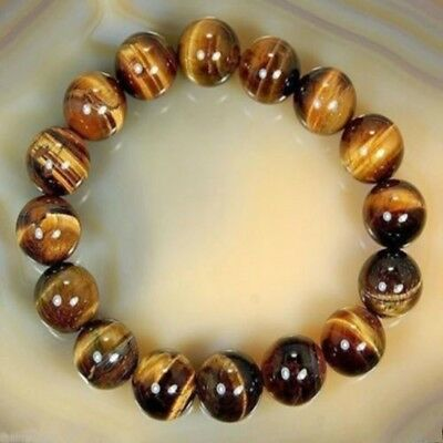 8mm Natural African Roar Tiger's Eye Gems Stone Round Beads Bracelet 7.5'' Hot