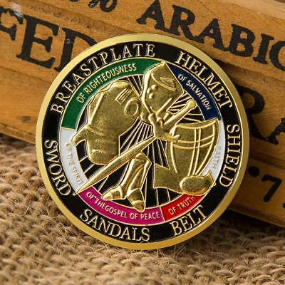 Coins the Whole Armor of God Commemorative Challenge Coin Collection Gift