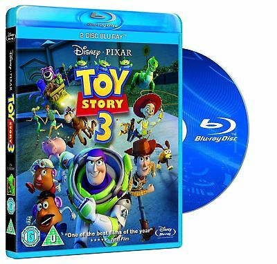 Toy Story 3 [Blu-ray Children Movie, Disney Pixar, Region Free, 2-Disc]