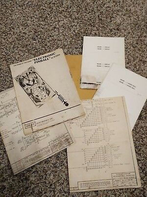 "Stern ""Electronic Pinball"" Manual, Schematic, score cards"
