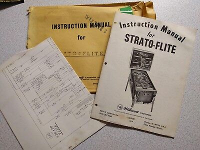 Williams Strato-Flite Instruction Manual and Schematic