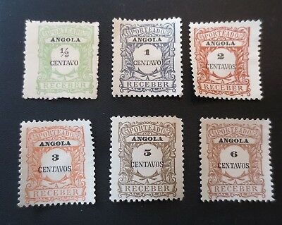 Angola 1921 Postage Due Stamps SC #J21-26 MH & MNG Portugal Colony