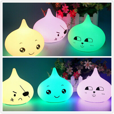 USB Rechargeable LED Colorful Night Light Water Drop Shape Silicone Pat Lamp UK