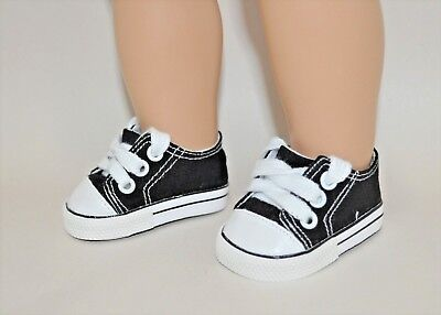 """American Girl Dolls Our Generation 18"""" Dolls Clothes Black Sneakers Runners"""