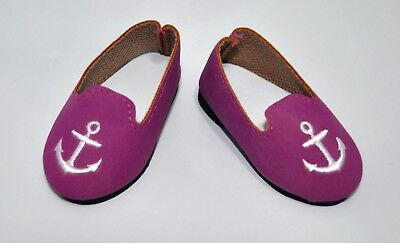 American Girl Doll Our Generation Journey 18 Dolls Clothes Shoes Suede Slip On