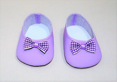 American Girl Doll Our Generation 18 Dolls Clothes Mauve Bow Slip-on Shoes