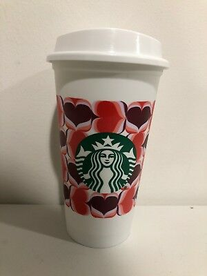 STARBUCKS 2019 Valentines Day Reusable  Grande 16oz Coffee Tea To Go Cup. NEW