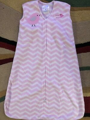 Infant Girls Halo Sleep Sack Wearable Blanket Fleece Pink Chevron SiZe Medium