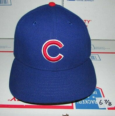 c8c7cda2143 New Era Chicago Cubs Fitted Baseball Hat 59Fifty On-Field Cap Size 6 7