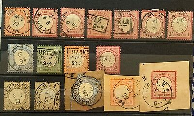 Germany DR 1872 1874 SMALL Shields Used