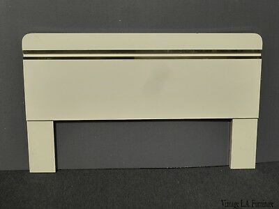 Vintage Mid Century Italian Style Rounded Corners Queen Headboard ~ Solid Wood