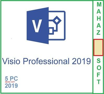 Visio Professional 2019 + 5 PC+32/64 BITS+ DOWNLOAD KEY CODE+LATEST VERSION+ ESD
